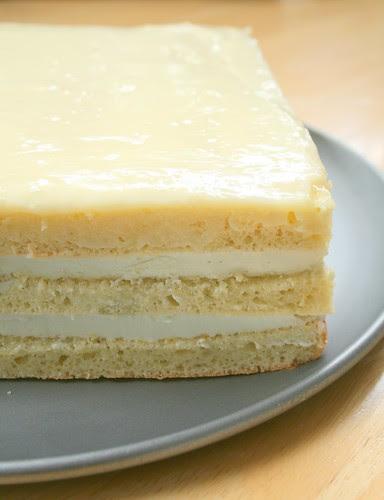 Green Tea White Chocolate Opera Cake