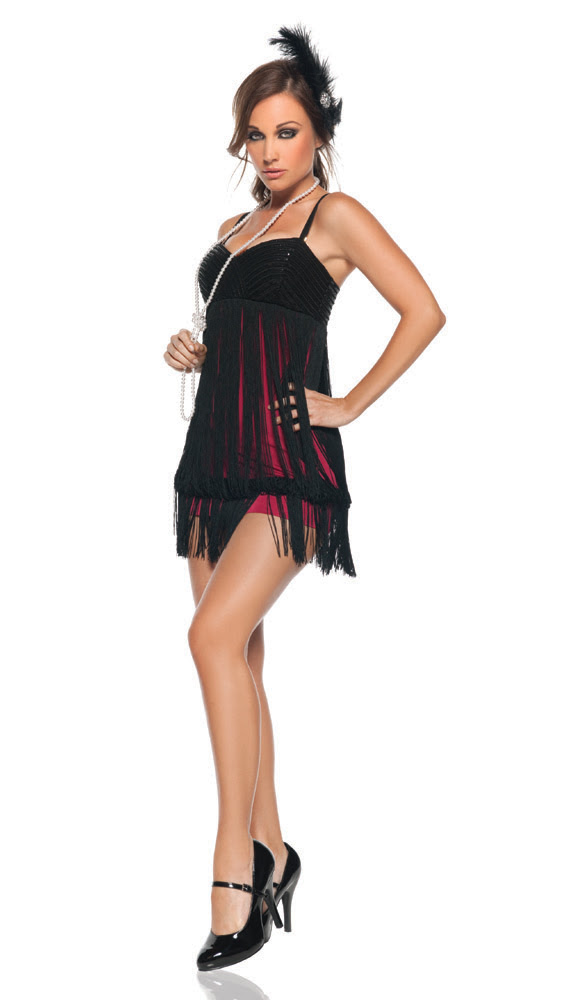 sexy women's costume flapper roaring 20's great gatsby