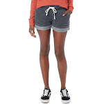 Alternative - Women's Lounge Burnout French Terry Shorts - 8630 - Washed Black