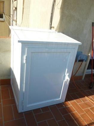 Para nuestra familia armario para lavadora exterior - Armario de madera para exterior ...