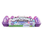 Hatchimals Colleggtibles Season 4 Hatch Bright Mystery Egg Carton, Purple - 12 pack