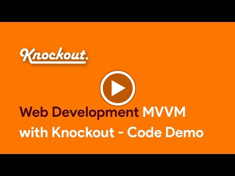 MVVM with Knockout - Code Demo  You can buy our courses on  SkillBakery.com   http://skillbakery.com/course/master-knockoutjs-javascript  and on Udemy.com  https://www.udemy.com/master-knockoutjs-javascript