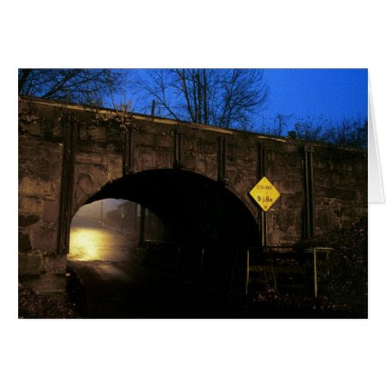 The Tunnel I - Magical World Beyond Tunnel Arch Greeting Cards