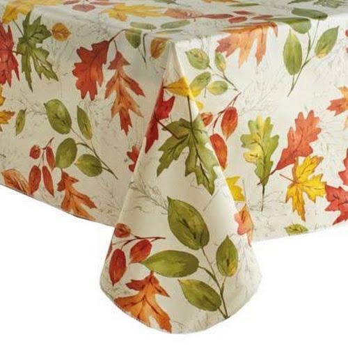 Autumnal Breeze 52 X 70 Oblong Vinyl Tablecloth Multi