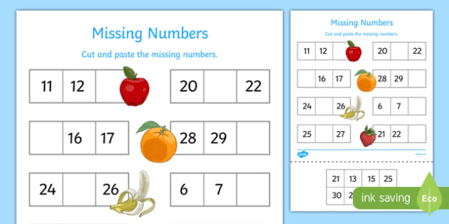 T S 3241 Missing Numbers to 30 Activity Sheet_ver_1