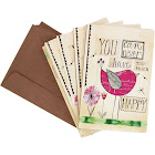TreeFree Greetings Never Too Happy Eco Note Cards 12 Count
