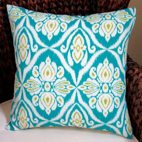 Artisan Pillows Peacock Geometric Abstract Modern Indoor Outdoor