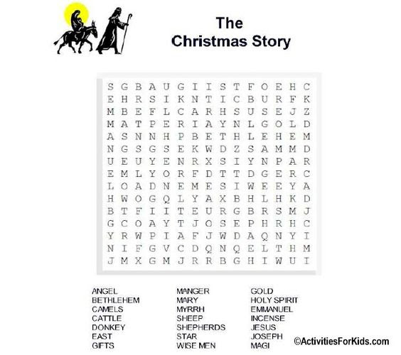 Christmas Story Word Search at ActivitiesForKids.com #wordsearch ...