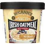 Mccann's Irish Oatmeal Instant Oatmeal Cup - Original - Case of 12 - 1.41 oz