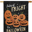 28 x 40 in. Fright on Halloween Night Banner Flag. Dyed Sublimation, Double Sided