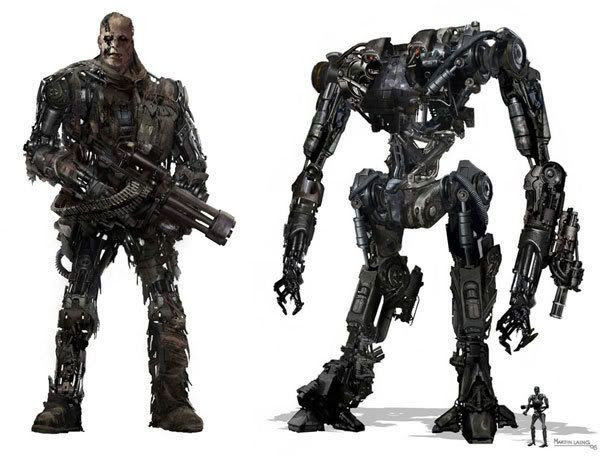 The Cyborg and Harvester in TERMINATOR SALVATION.