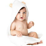 Vesta Baby Bamboo Hooded Bath Towel and Washcloth Set