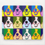 Border Collie Pop Art mousepad