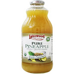 Lakewood Organic Pure Fresh Pressed Juice Pineapple 32 fl oz