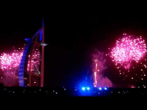 Amateur Video of the Burj Al Arab 2012 New Year's Fireworks
