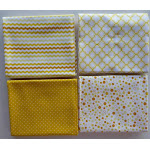 Sorbet Essentials~Geometric Fat Quarter Bundle of 4~Yellow by Quilting Treasures