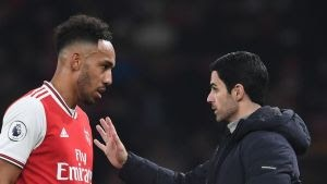 Arteta Reveals Aubameyang's Availability For Man Utd Clash