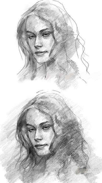 draw woman face tutorial
