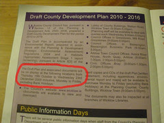 Countywise, delivered on 30th November 2009