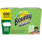 Bounty Napkins, Quilted, White, 1-Ply - 600 napkins