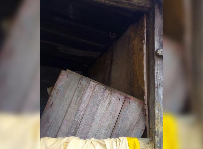 Mulher disse que ex-companheiro disse que janela da sua casa ficou quebrada. (Foto: BAHIA DIA A DIA)