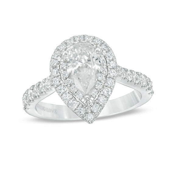 Vera Wang Love Collection 1 34 Ct Tw Certified Pear Shaped