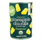 Natural Value 14 oz. Organic Pineapple CHUNKS / 6-pack