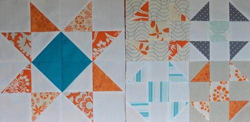Aqua and Orange Bee - Blocks for Shanna