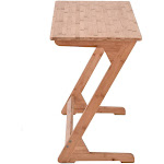 DEYIOU Sofa Table TV Tray Couch Sofa End Table Laptop Desk Bamboo Coffee Table
