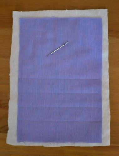 padded bag - marking lines
