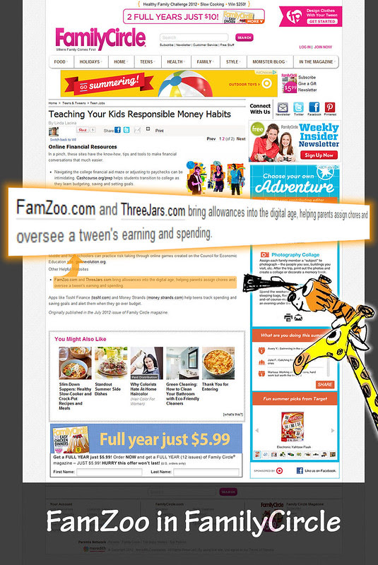 FamZoo Featured In Family Circle Magazine