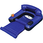 Swimline 9047 Swimming Pool Fabric Inflatable Ultimate Floating Lounger Chair at VM Express