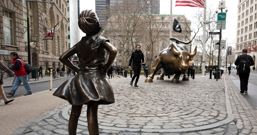 A Girl Stands Firm on Wall Street - The New York Times