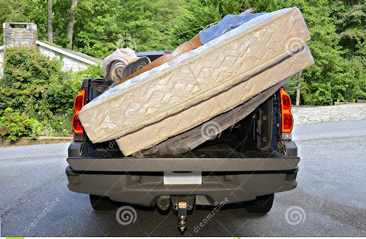 Moving Belongings In A Truck Stock Photo - Image: 59727126