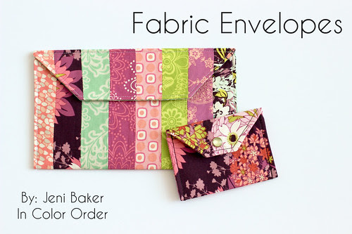 Fabric Envelopes Tutorial by Jeni Baker