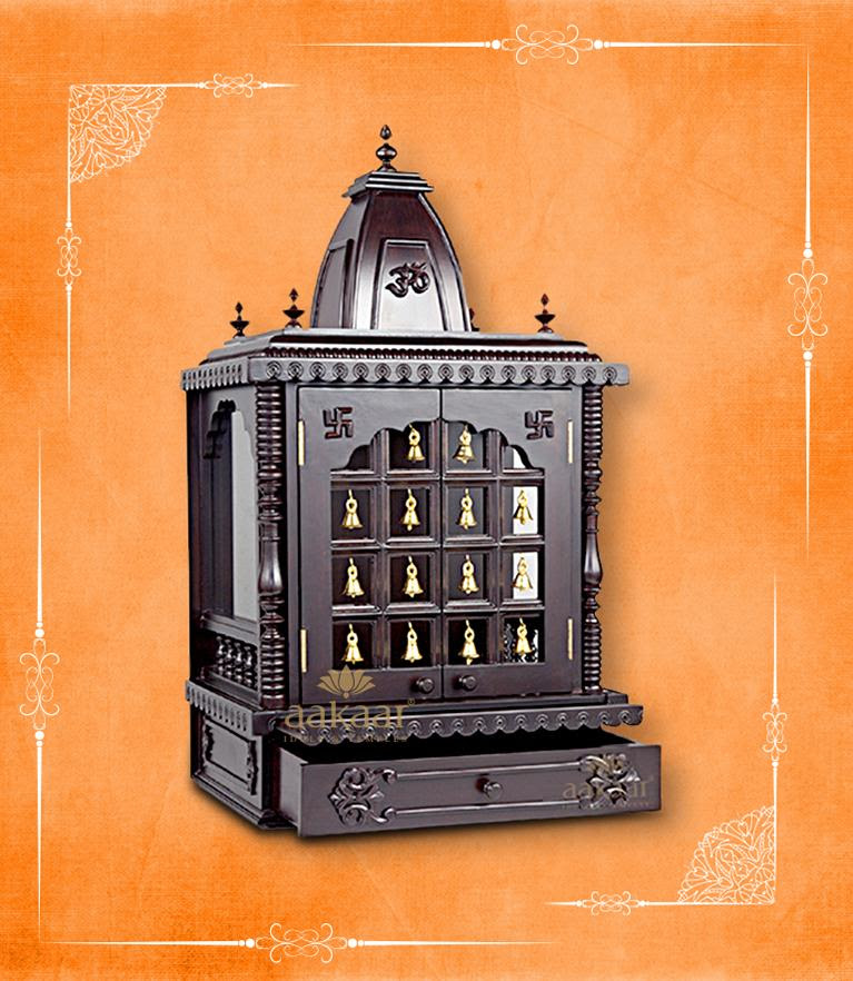 Wooden Pooja Mandir Temple Designs For Home Modern Temple Designs Aakaar Idols Temples