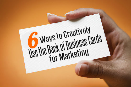 Cool ideas on how to use your business card to grow business 6 ways to creatively use the back of business cards for marketing colourmoves