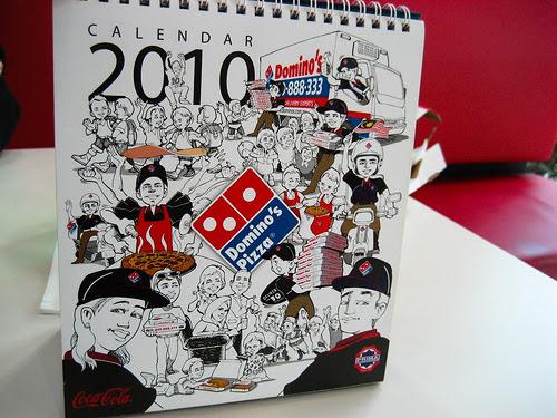 My dominos 2010 calendar