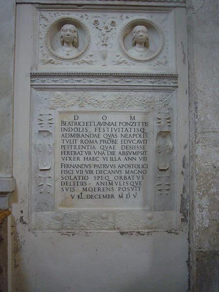 File:S M della Pace - tomba delle bambine Ponzetti 1270956.JPG