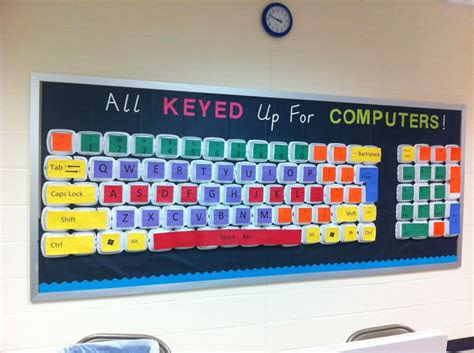 elementary computer lab bulletin board computers