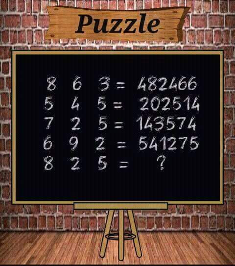 Solve this 8 2 5 = ?
