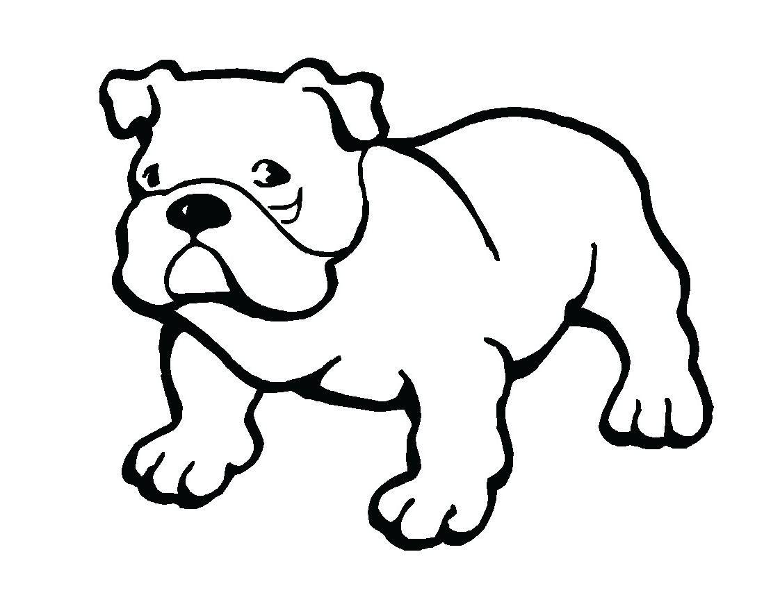Coloriage chien bulldog