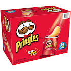 Pringles Grab & Go Potato Chips, Original - 24 cans, 1.3 oz each