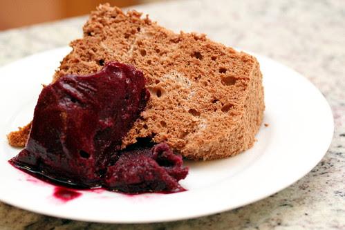 Cake and sorbet