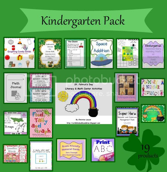 Are you feeling lucky contest kindergarten teaching resources