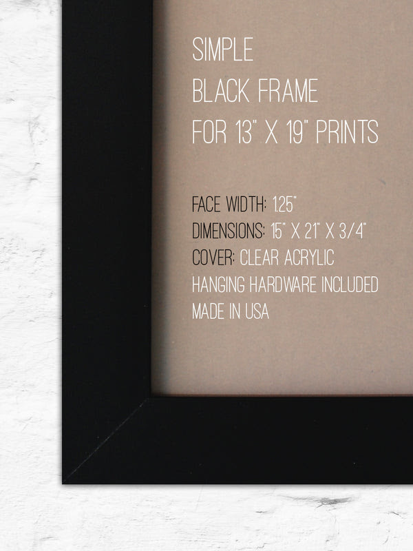 13 X 19 Black Frame Without Print School Street Posters