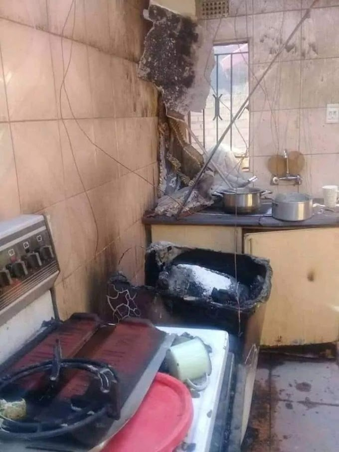 Zambian Lady Burns Down The House After Her Husband Done This To Another Lady