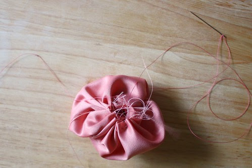 Step 8: Pull Thread Lightly to Close