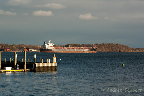 Oil Tanker Leaves New Haven Harbor -1.jpg