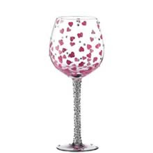Decorated Glass Wine Glasses Glassware